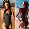 Het sexy Zwempak van het Neopreen met Netwerk zegent uit AchterSwimwear