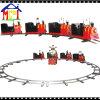 ステンレス鋼の鉄道および塀を持つ子供のための電車