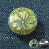 Tasto d'ottone del metallo di stile della Rosa per usura dei jeans