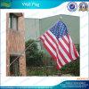 De V.S. Wall Flag met Vlaggestok Aluminum (B-NF14P03008)