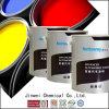 Краска крома 1k брызга Jinwei металлическая яркая красная резиновый