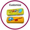 Doos van het Potlood van de douane de Multifunctionele met de Compartimenten van de Calculator