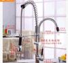 2015熱いSale Kitchen Faucets All Copper HotおよびCold導自由なPumping Type Kitchen Faucet Basin Spring Faucet Rotating Double Outlet