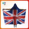 元気づけることのためのフードが付いている英国国旗ボディフラグ