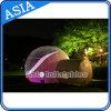 Demi de tente transparente gonflable romantique de loge de bulle, tente gonflable durable de dôme de bulle pour camper extérieur