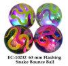 Lustige 65mm Flashing Snake Water Boucing Ball Toy