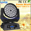 DJ Disco 36*15W 5in1 6in1 LED Wash Moving Head Light (SF-109A)