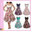 Hig Qualitätsfrauen-Sommer-Blumenweinlese-Kleid