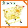 Chariot neuf de supermarché de couleur de jaune de mode de modèle (JS-TAU06)
