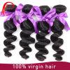 卸売価格の加工されていない二重に引かれた螺線形にカールの人間の毛髪の編むこと