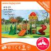 Скольжение спортивной площадки скольжения детей замока пластичное напольное