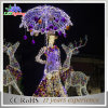 Luzes ao ar livre do feriado da paisagem do diodo emissor de luz da rua da projeção da decoração do Natal