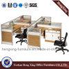 Divisória do escritório do preço de fábrica de 4 assentos com suporte (HX-PT630)