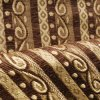Brown Style Chenille Stripe Fabric para o sofá Cover (FTH31404)