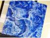 Glasig-glänzende Porzellan-Fliese-blaue Marmorentwurfs-Polnisch-Dekoration-Bodenbelag-Fliese