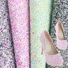 人の靴(AD6)のための工場価格の高品質PUのきらめきの革