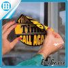 Pegamento de encargo al por mayor que hace publicidad de la etiqueta engomada circular amarilla de la ventana