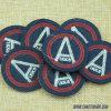 Qualitäts-Kreisform-einfache Auslegung-Stickerei-Abzeichen 257