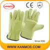 Промышленная безопасность Свинья зерно кожа драйвера Рабочие перчатки (22201)