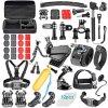 60 dans 1 nécessaire combiné d'accessoires pour l'argent noir de session du héros 4/3+/3/2/1 de Gopro, pour le lot d'accessoires d'appareil-photo de Gopro