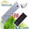 Todos en una luz de calle solar de 18W LED al aire libre