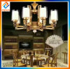 Lámpara de bronce con la iluminación moderna de la decoración de la casa de la cortina de cristal