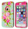 Pesado-deber móvil Peony Pattern Hybrid Caso Smart Cover de Phone Accessories para iPhone6 Plus 5.5inchand 4.7 Inch