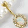 Het Doordringen van de Navel van Cabochon van de Ring van de Navel van Antiqued de Imitatie Turkooise 14G Juwelen van het Lichaam
