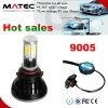 Kit brillante estupendo H1 H3 H7 H11 H13 9004 de la fábrica LED linterna P43t de 9007 9006 H4 LED con el tubo colorido