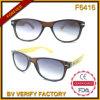 Классицистические конструированные Bamboo солнечные очки висков F6416 торгуя от Zhejiang