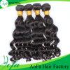 Trama indiana do cabelo humano de Remy da qualidade superior da venda por atacado da fábrica de Aofa