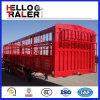 3 محور العجلة 60 طن نقل سياج شحن شاحنة مقطورة