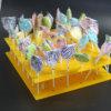 Стойка индикации желтого Lollipop акриловая для магазина