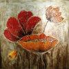 Große viktorianische BlumenÖlgemälde-noch Lebensdauer-hölzernes Feld (LH-222000)