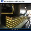 Compteur commercial de marbre transparent jaune moderne de barre de premières ventes