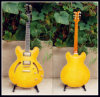 Гитара джаза цены красивейшей совершенной переклейки дешевая