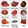 採鉱の固体スラリーポンプ置換の金属の予備品