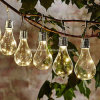[لد] شمسيّة يزوّد [لد] خيط [ليغت بولب] مسيكة كرة أرضيّة [لد] خيط أضواء لأنّ سياج فناء فناء حديقة أبيض دافئ