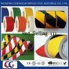 非反射付着力の黄色く黒い床のマーキングテープ(C1300-O)