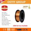 alambre de soldadura plástico de China MIG de la herida de la capa de la precisión del carrete 15kg de 0.8m m (ER70S-6)