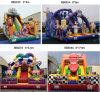 Selva/palhaço/carro/corrediça inflável famosa dos brinquedos dos desenhos animados 3D para miúdos