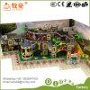 Le château vilain badine la cour de jeu avec les jouets gonflables