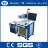 Máquina de la marca del laser de la fibra para el anillo, el plástico, el PVC, el metal y el no metal