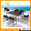 Комплект обедая таблицы ротанга конструкции горячего сбывания отдыха сада удобный