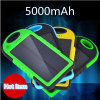 batería de la energía solar 5000mAh con el cargador solar hecho salir USB dual