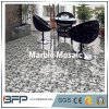 Mattonelle di marmo in bianco e nero della parete del mosaico per la stanza da bagno/cucina