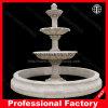 Fontaine statuaire de découpage de marbre, fontaine de jardin, fontaine d'automne de l'eau