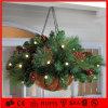 van het LEIDENE van 5m Licht van de Slinger van de Kroon van Kerstmis van de Decoratie Ornament van Kerstmis het Lichte