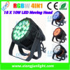 le PAIR de 18X10W LED peut laver l'éclairage de PAIR d'étape légère