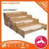 روضة أطفال أثاث لازم خشبيّة أربعة طبقة ينزلق سرير لأنّ أطفال